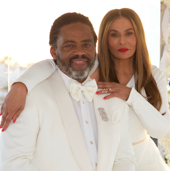 Richard Lawson and Tina Knowles-Lawson